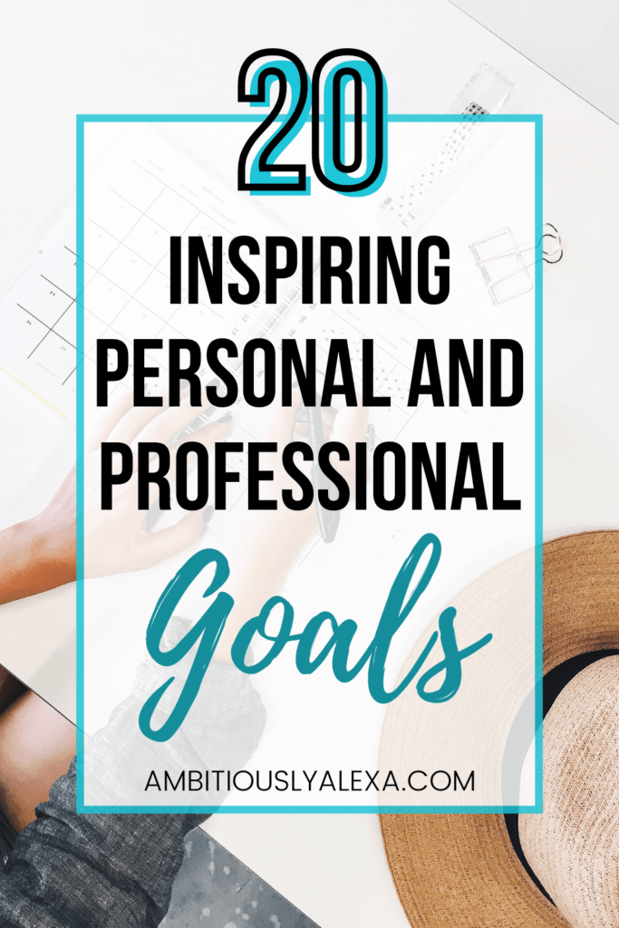 personal and professional goals worksheet