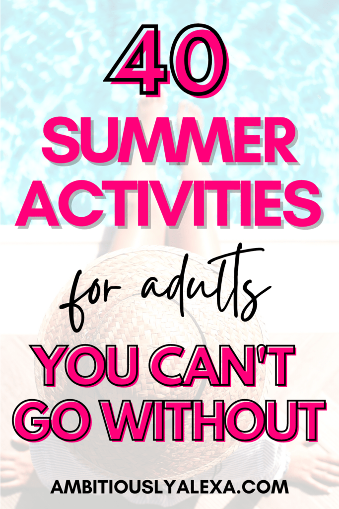 summer activities for adults