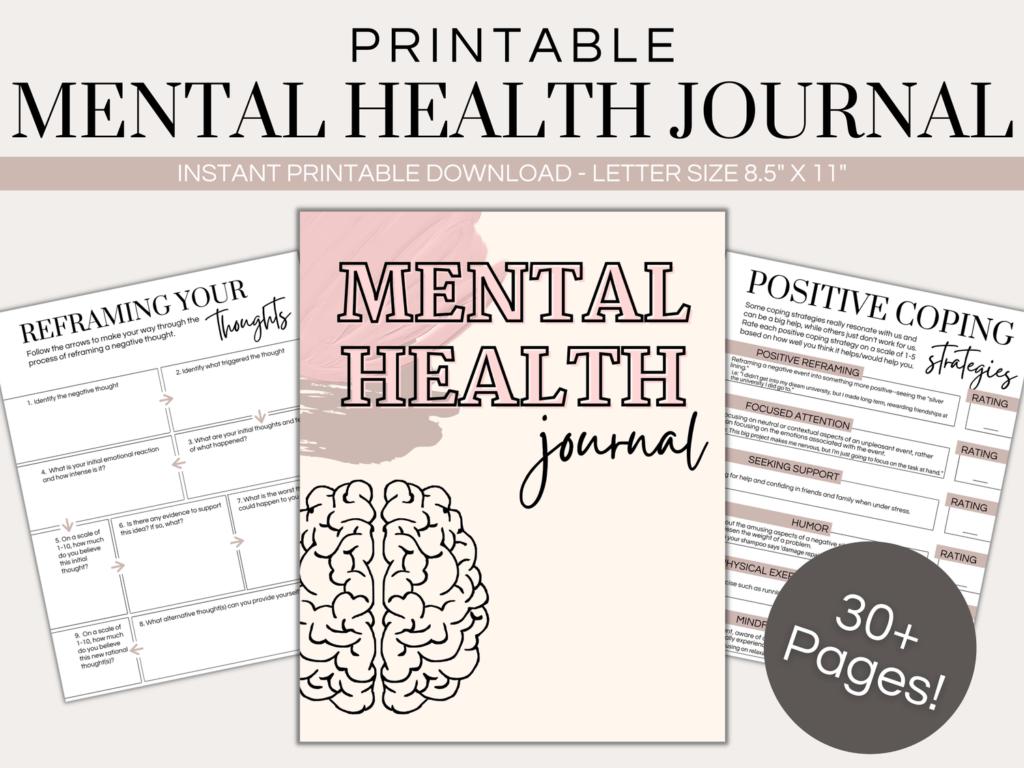printable mental health journal