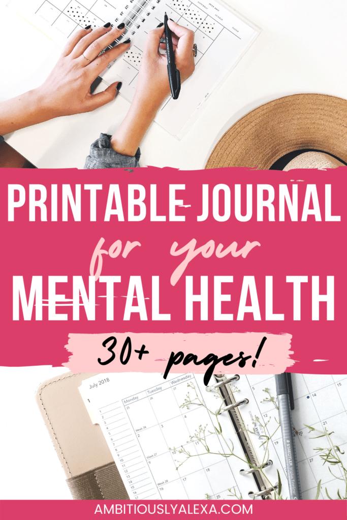 mental health printable resources
