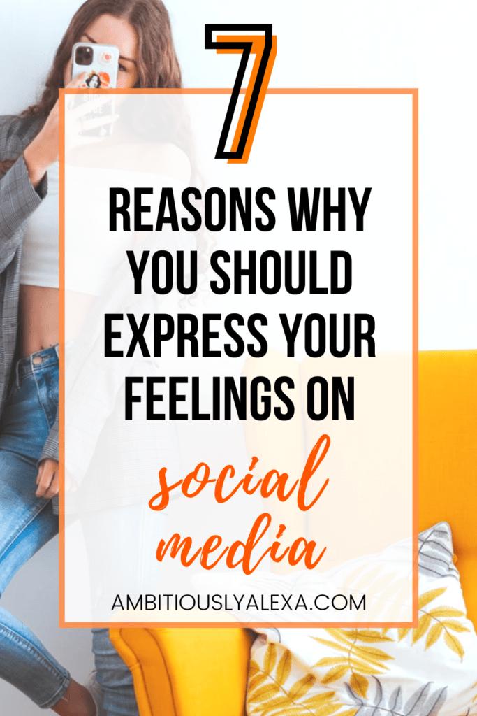 expressing your emotions through social media