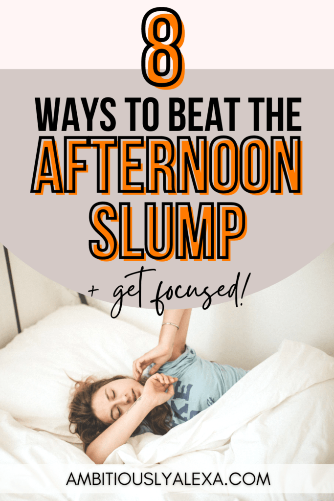 how to beat the afternoon slump at work